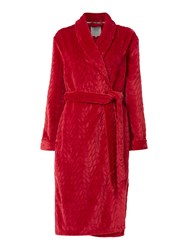 Dickins And Jones Cable Robe Pink