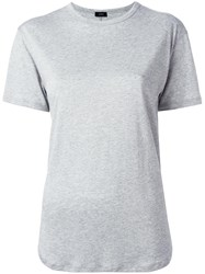 Joseph Round Neck T Shirt Grey