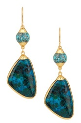 Janna Conner Vita Chrysocolla Double Drop Earrings No Color