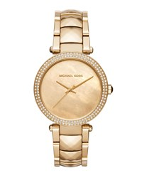 Michael Michael Kors 39Mm Parker Glitz Bracelet Watch Gold