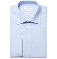 Richard James Blue Cotton Poplin Shirt
