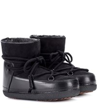 Inuikii Classic Low Fur Lined Leather Boots Black