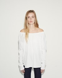 Organic By John Patrick Off The Shoulder Shirt White