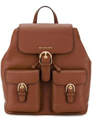 Michael Michael Kors Buckled Backpack Women Leather One Size Brown