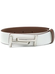 Tod's Double T Belt White