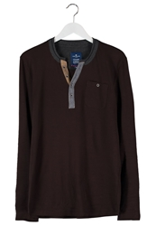 Tom Tailor Trademark Long Sleeved Top Dark Chocolate Brown Dark Brown