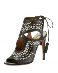 Aquazzura Sexy Thing Folk 105Mm Sandal Ink