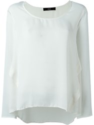 Steffen Schraut Back Panel Blouse White
