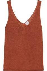 Iris And Ink Stretch Knit Tank Brown