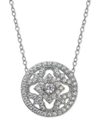 Giani Bernini Cubic Zirconia Round Pendant Necklace In Sterling Silver Only At Macy's