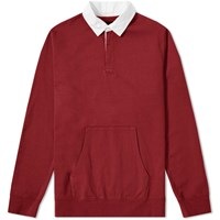 Beams Plus Rugby Sweat Burgundy