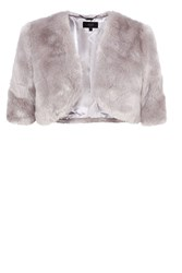 Coast Bleeker Faux Fur Cover Up Grey
