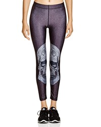Zara Terez Crystal Skull Leggings Black