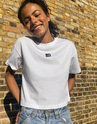 The North Face Central Logo Crop T Shirt In White