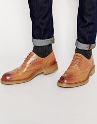 Lambretta Brogue Shoes Tan