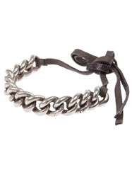 Goti Curb Chain Bracelet Metallic