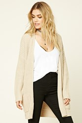 Forever 21 Ribbed Knit Sweater Cardigan