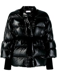 Red Valentino Belted Puffer Jacket Black