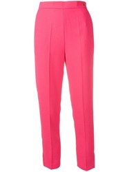 Elisabetta Franchi Cropped Tailored Trousers Pink
