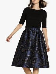 Fat Face Jacquard Skirt Midnight