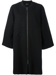 Andrea Ya'aqov Zipped Bomber Coat Black
