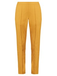 Rosie Assoulin Oboe High Rise Slim Fit Trousers Yellow
