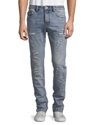 Cult Of Individuality Rockabilly Slim Cotton Jeans Blue