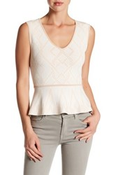 Bcbgmaxazria Alonya Knit Peplum Shirt Black
