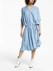 And Or Zhandra Lyocell Dress Pale Blue