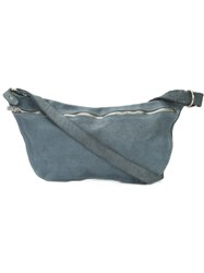 Guidi Zip Messenger Bag Unisex Horse Leather One Size Grey