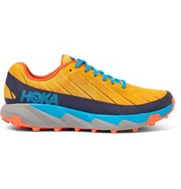 Hoka One One Torrent Rubber Trimmed Mesh Trail Running Sneakers Yellow