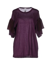 Uniqueness Topwear T Shirts Women Mauve