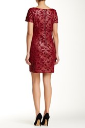 Alexia Admor Cap Sleeve Faux Leather Sheath Dress Red
