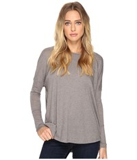 Alternative Apparel Eco Gauze Ramble Long Sleeve Tunic Grey Storm Women's Long Sleeve Pullover Gray