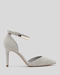 Reiss Pointed Toe D'orsay Pumps Naomi High Heel Grey