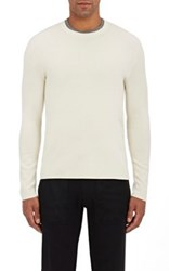 Michael Kors Men's Cashmere Pullover Sweater Ivory