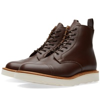Mark Mcnairy Vibram Sole Derby Boot Chocolate Brown Waxy