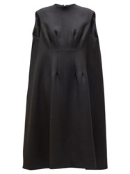 The Row Isandra Wool Blend Cocoon Dress Black