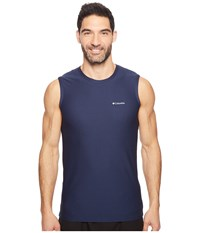 Columbia Diamond Mesh Muscle Tee Dress Blue Men's T Shirt Navy