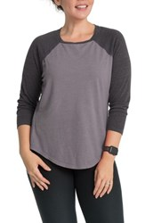 Bun Maternity Relax Raglan Sleeve Nursing Top Moonstone Gray