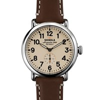 Shinola Runwell 41Mm Watch Brown