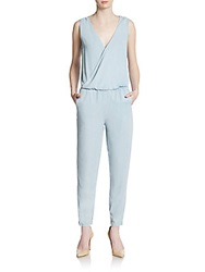 Saks Fifth Avenue Red Chambray Jumpsuit