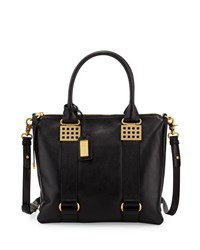 Ally Leather Tote Bag Black Badgley Mischka