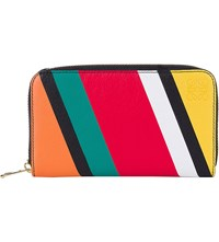 Loewe Striped Leather Wallet Multicolour