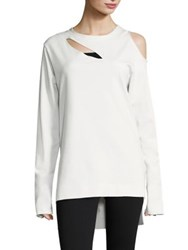 Y 3 Long Sleeve Cocoon Sweater Crystal White