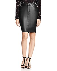 The Kooples Faux Leather Pencil Skirt Black