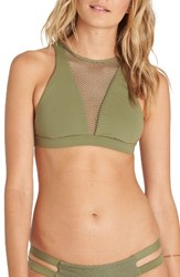 Billabong Women's Meshin' With You High Neck Bikini Top