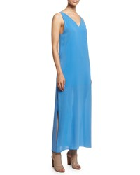 Alice Olivia Grady Sleeveless High Slit Maxi Dress Blue