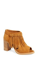 Women's Sbicca 'Hickory' Fringe Bootie Tan Suede