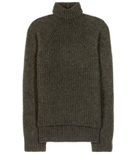 Haider Ackermann Mohair And Wool Blend Turtleneck Sweater Green